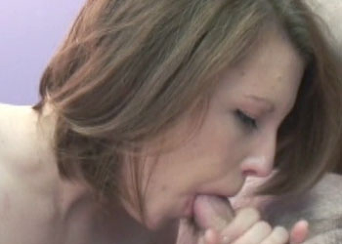 Redhead coed Veronica blows Logan