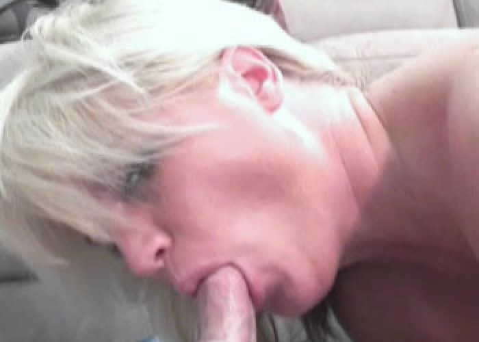 Blonde MILF Alexis is sucking cock