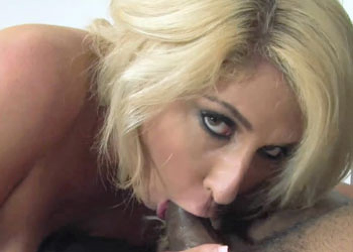 Curvy slut Kelli pounds a big black cock